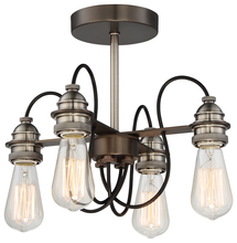 Minka-Lavery 4454-784 - 4 Light Semi Flush Mount