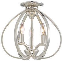 Minka-Lavery 4983-613 - 3 Light Semi Flush Mount