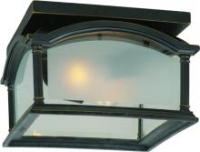 Artcraft AC8116BG - One Light Black With Bronze Frosted With Clear Edges Glass Outdoor Flush Mount