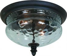Artcraft AC8506BZ - Two Light Bronze Seeded Ribbed Glass Outdoor Flush Mount