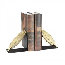 Sterling Industries 3129-1123/S2 - Ferrier Bookends In Gold And Black