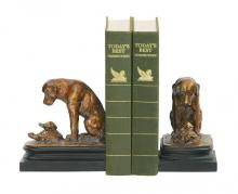 Sterling Industries 91-1452 - Pair Turtle And Labrador Retriever Bookends