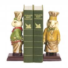 Sterling Industries 91-2799 - Pair Of Chef Bunny Bookends
