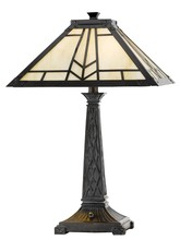 "CAL Lighting BO-2096TB - 23"" Height Resin Table Lamp In Tiffany"