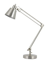 "CAL Lighting BO-2165TB-BS - 27"" Height Metal Desk Lamp In Brushed Steel"