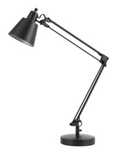 "CAL Lighting BO-2165TB-DB - 27"" Height Metal Desk Lamp In Dark Bronze"