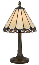 "CAL Lighting BO-2382AC - 13.5"" Height Zinc Cast Accent Lamp In Antique Brass"