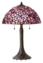 "CAL Lighting BO-2404TB - 24.00"" Height Table Lamp with Natural Amethyst Shade"