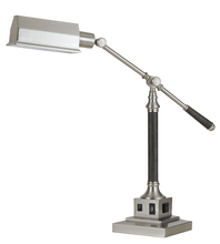 "CAL Lighting BO-2687DK - 36"" Height Metal Desk Lamp In Brushed Steel"