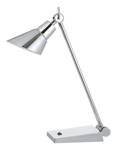 "CAL Lighting BO-2690DK - 20"" Height Metal Desk Lamp In Chrome"