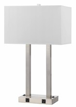 CAL Lighting LA-8028DK-1-BS - 60W X 2 Metal Desk Lamp With Two Outlet