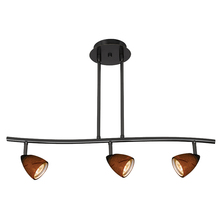 "CAL Lighting SL-954-3-BK/AMS - 7.25-19.25"" Inch Adjustable Metal Serpentine Three Light Ceiling Fixture"