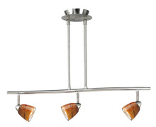 "CAL Lighting SL-954-3-BS/AMS - 7.25-19.25"" Inch Adjustable Metal Serpentine Three Light Ceiling Fixture"