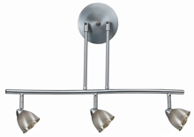 "CAL Lighting SL-954-3-BS/CBS - 7.25-19.25"" Inch Adjustable Metal Serpentine Three Light Ceiling Fixture"