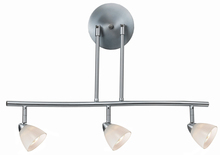 "CAL Lighting SL-954-3-BS/WH - 7.25-19.25"" Inch Adjustable Metal Serpentine Three Light Ceiling Fixture"