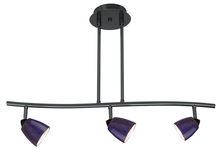 "CAL Lighting SL-954-3-DB/BLS - 7.25-19.25"" Inch Adjustable Metal Serpentine Three Light Ceiling Fixture"