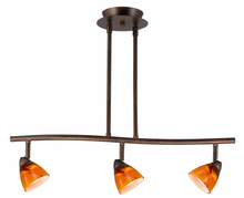"CAL Lighting SL-954-3-RU/AMS - 7.25-19.25"" Inch Adjustable Metal Serpentine Three Light Ceiling Fixture"