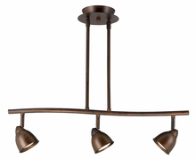 "CAL Lighting SL-954-3-RU/CRU - 7.25-19.25"" Inch Adjustable Metal Serpentine Three Light Ceiling Fixture"