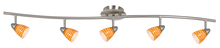 "CAL Lighting SL-954-5-BS/LAS - 7.25-19.25"" Inch Adjustable Metal Serpentine Five Light Ceiling Fixture"