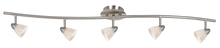 "CAL Lighting SL-954-5-BS/WH - 7.25-19.25"" Inch Adjustable Metal Serpentine Five Light Ceiling Fixture"