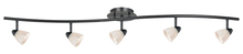 "CAL Lighting SL-954-5-DB/WH - 7.25-19.25"" Inch Adjustable Metal Serpentine Five Light Ceiling Fixture"
