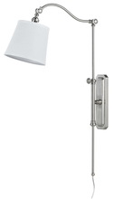 "CAL Lighting WL-2474-ORB - 33.5"" Inch Tall Metal Wall Lamp in Brushed Steel Finish"