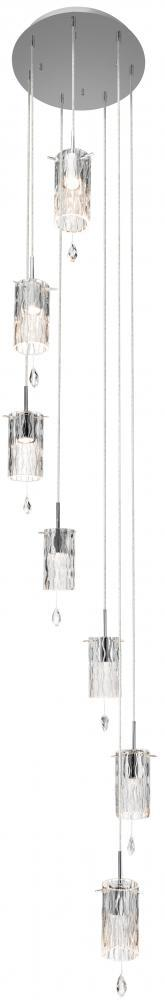Elan 83180 - Seven Light Chrome Multi Light Pendant