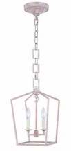 Elegant 1512D9IW - 1512 Denmark Collection Pendant L:9.5in W:9.5in H:15.5in Lt:2 Ivory wash Finish