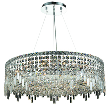 Elegant V2031D32C/RC - 2031 Maxime Collection Chandelier D:32in H:10.5in Lt:18 Chrome Finish (Royal Cut Crystals)