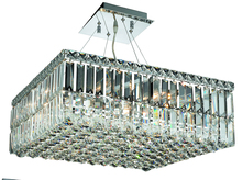 Elegant V2032D20C/RC - 2032 Maxime Colloection Chandelier L:20 in W:20in H:7.5in Lt:12 Chrome Finish (Royal Cut Crystals)