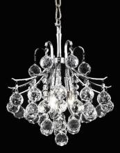 Elegant V8000D12C/RC - 8000 Toureg Collection Pendant D:12in H:12in Lt:3 Chrome Finish (Royal Cut Crystals)