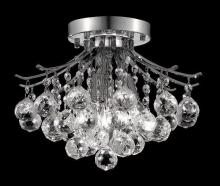 Elegant V8000F12C/RC - 8000 Toureg Collection Flush Mount D:12in H:12in Lt:3 Chrome Finish (Royal Cut Crystals)