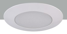 "Elegant REP13WH - 6"" Line voltage Shower Trim Frosted Plastic Ring"