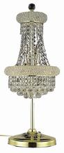Elegant V1800TL12G/SA - 1800 Primo Collection Table Lamp D:12in H:26in Lt:6 Gold Finish (Spectra� Swarovski� Crystals)