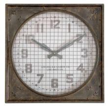 Uttermost 06083 - Uttermost Warehouse Wall Clock W/ Grill