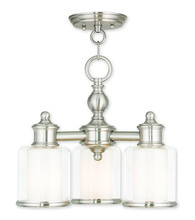 Livex Lighting 40203-91 - 3 Light BN Mini Chandelier/Ceiling Mount