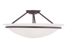Livex Lighting 4825-07 - 3 Light Bronze Ceiling Mount