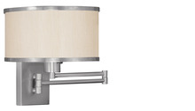 Livex Lighting 6279-91 - 1 Light BN Swing Arm Wall Lamp