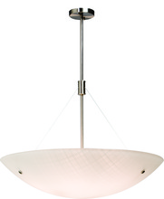 Artcraft AC7115 - Three Light Chrome Curved Linen Glass Up Pendant