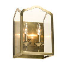 Artcraft AC949AB - Two Light Antique Brass Bevelled Clear Glass Outdoor Wall Light
