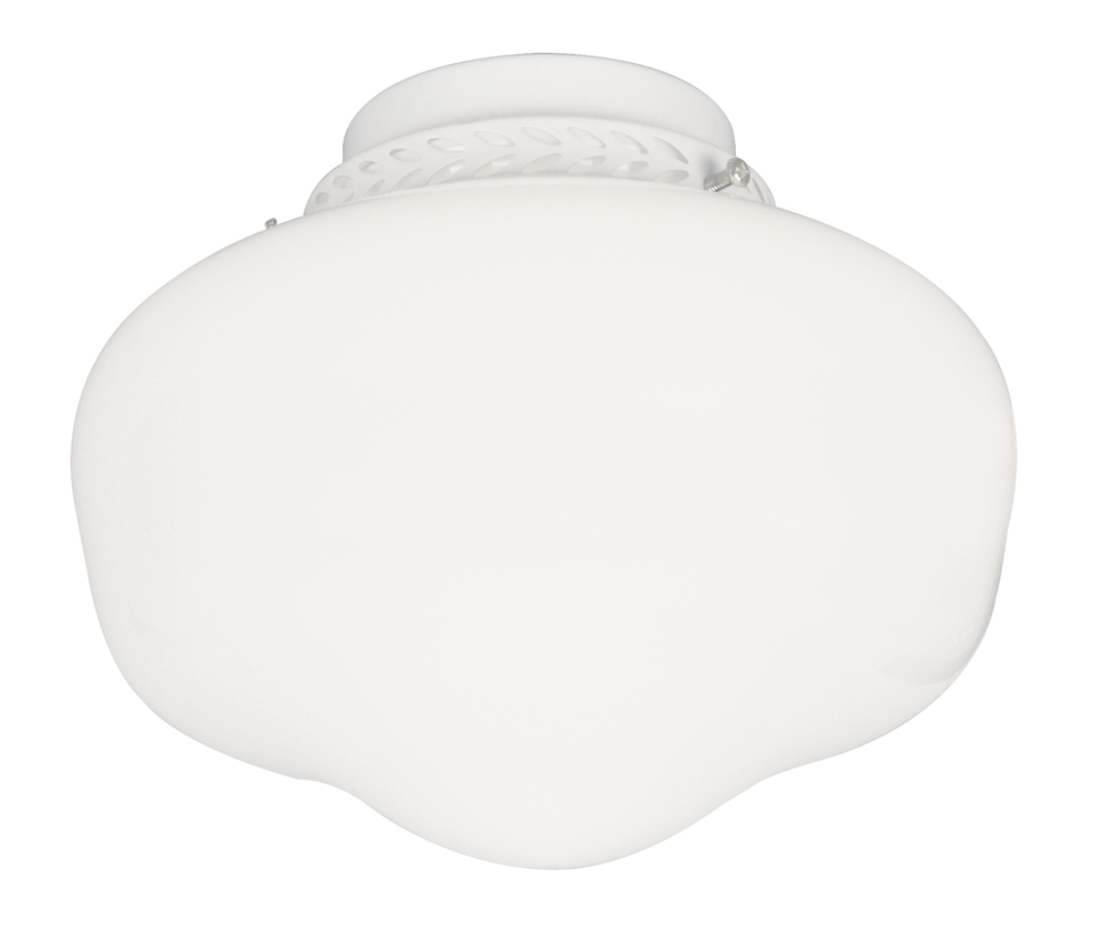 Inland Lighting in Yakima, Washington, United States, Craftmade GWVL, 1 Light Bowl Fan Light Kit in White with Cased White Glass,