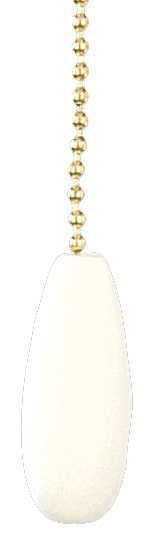 Craftmade FP-WHTD - White Teardrop Fan Pull Chain