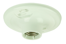 Craftmade K212-P - Plastic Keyless Socket Lamp Holder in White Plastic