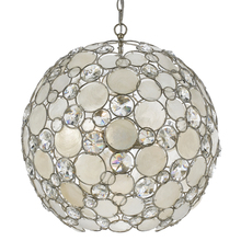 Crystorama 529-SA - Crystorama Palla 6 Light Antique Silver Sphere Chandelier