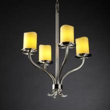 Justice Design Group CNDL-8780-10-AMBR-NCKL - Sonoma 4-Light Chandelier