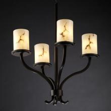 Justice Design Group FAL-8780-10-NCKL - Sonoma 4-Light Chandelier