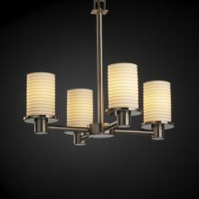 Justice Design Group POR-8510-10-PLET-NCKL - Rondo 4-Light Chandelier