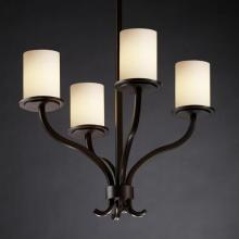 Justice Design Group FSN-8780-10-OPAL-NCKL - Sonoma 4-Light Chandelier