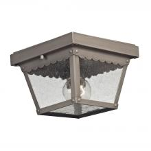 Thomas 9102EF/80 - Springfield 2 Light Outdoor Flushmount In Dark P