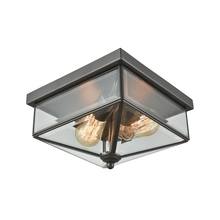 Thomas CE9202310 - Lankford 2 Light Outdoor Flush In Oil Rubbed Bro